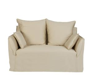 Sofá de 2 plazas beige