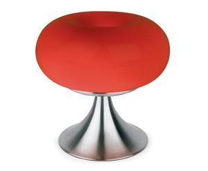 Lámpara de sobremesa Toruk con pie bajo- rojo