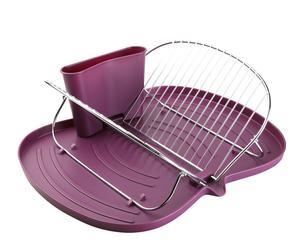Escurreplatos plegable - violeta