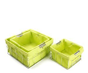 Set de 3 cestas cuadradas – verde