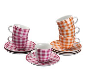 Set de 6 tazas con platos Espresso