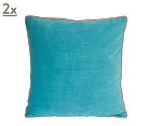 Set de 2 cojines cuadrados Santander - azul