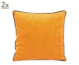 Set de 2 cojines cuadrados Santander - naranja