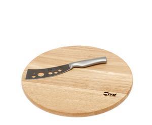 Conjunto de tabla y cuchillo de queso Essential