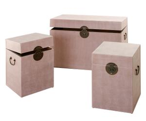 Set de 3 baúles – rosa
