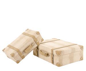 Set de 2 maletas – crema