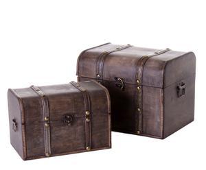 Set de 2 baúles Elegance - marrón