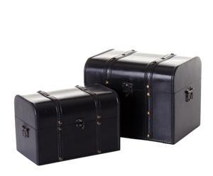 Set de 2 baúles Elegance - negro