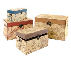 Set de 4 baúles de madera provenzal