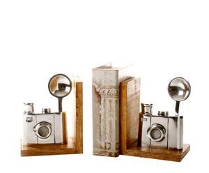 Set de 2 sujetalibros de aluminio - Cámara