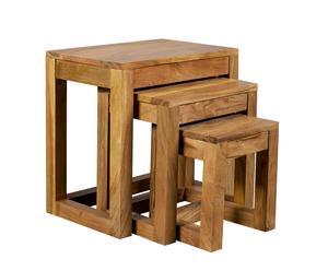Juego de mesas nido – madera clara