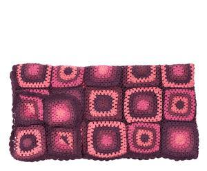 Manta estilo patchwork – Rosa y morado