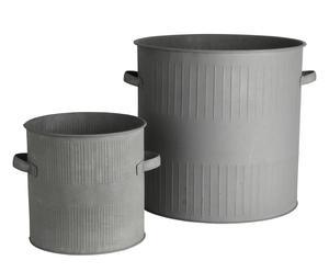 Set de 2 cubos de zinc