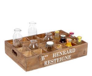 Caja de madera con 30 compartimentos