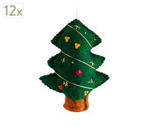 Set de 12 pinos de Navidad