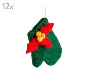 Set de 12 guantes de Navidad