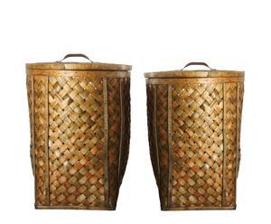 Set de dos cestas de lavandería