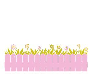 Vinilo valla – rosa y verde pistacho