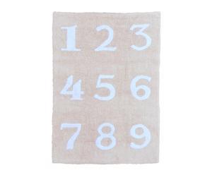 Alfombra Números – beige y blanco