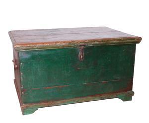 Baúl de madera vintage – verde