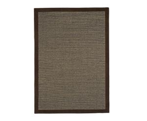 Alfombra de sisal y lana - marrón