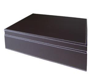 Caja de almacenaje - marrón