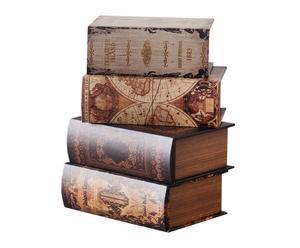 Set de 4 cajas con forma de libro
