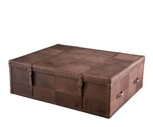 Mesa baúl de piel