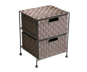 Mueble de baño con 2 cajones - Chocolate