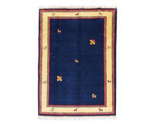 Alfombra GABBEH SHURI Azul con marco - Rectangular