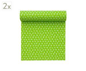 Set de 2 rollos de 20 servilletas de algodón, pistacho - 21x21