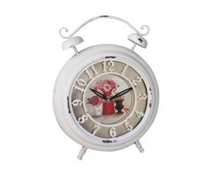 Reloj de sobremesa con flores