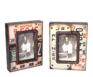 Set de 2 marcos de foto de pared -  matrícula