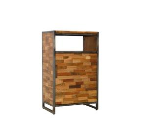 Mueble auxiliar de teca reciclada