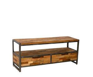Mueble de TV de teca reciclada