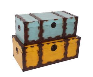 Set de 2 baúles madera