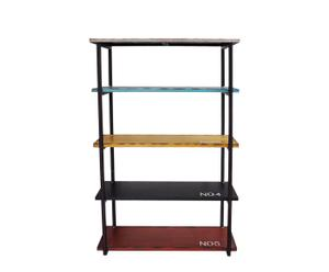 Estantería de metal y madera con 5 estantes