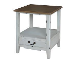 Mesa auxiliar de madera de abedul