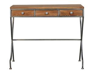 Mesa de escritorio en madera y metal