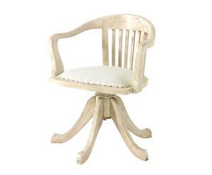 Silla de despacho con asiento acolchado - crudo