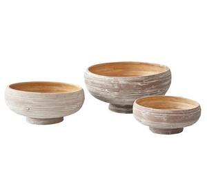 Set de 3 centros de bambú