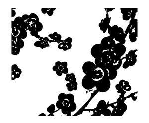 Papel pintado Almendro – blanco y negro