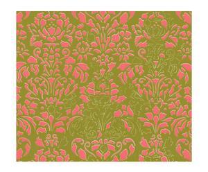 Papel pintado Comblé – verde pistacho y rosa