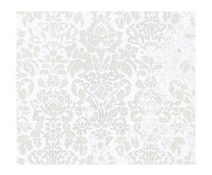 Papel pintado Comblé – blanco y gris
