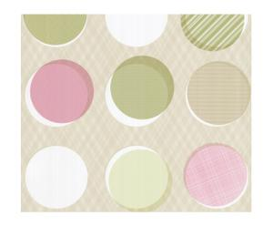 Papel pintado Button – rosa