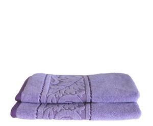 Set de 2 toallas de aseo Acanto - Morado