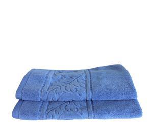 Set de 2 toallas de aseo Acanto - Azul