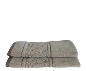 Set de 2 toallas de aseo Acanto - Piedra