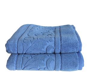 Set de 2 toallas de lavabo Acanto - Azul