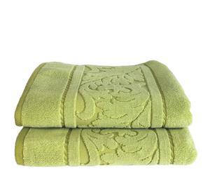 Set de 2 toallas de lavabo Acanto - Pistacho